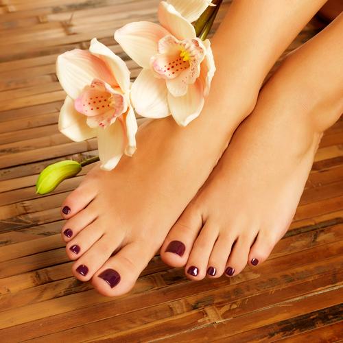 Pedichiură perfectă femeie picioare