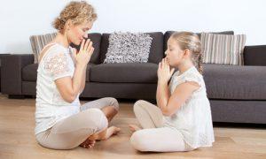 Meditația mamă și copil