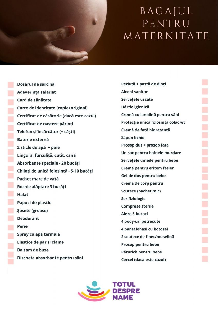 lista maternitate fete