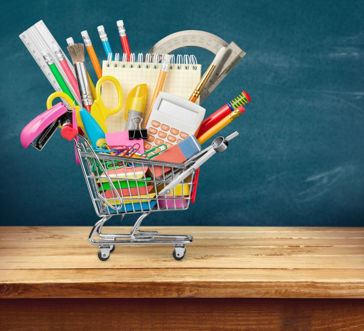 cumpărăturile pentru școală