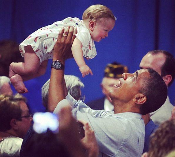Barack Obama si copiii