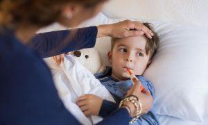 copilul a răcit