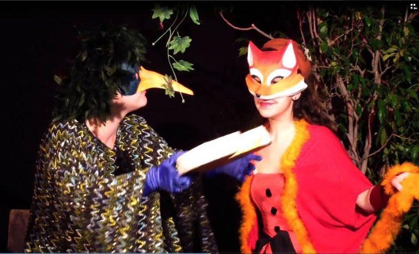 actori deghizati in vulpe si corb
