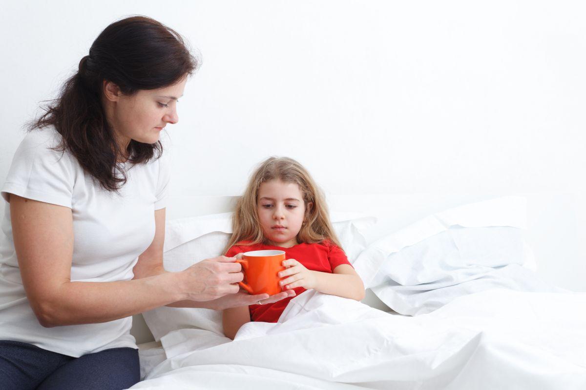 ceai copil pat mama