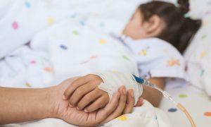 copil in spital