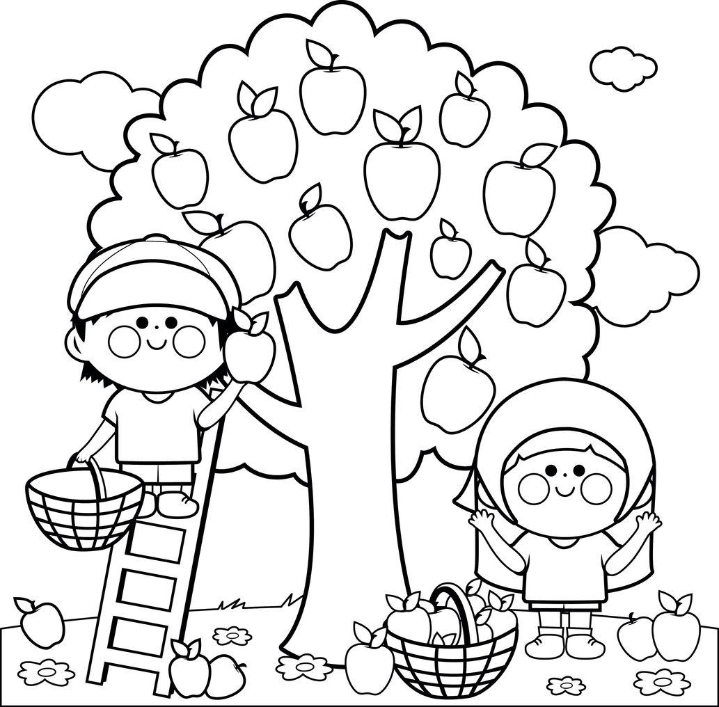 Desene De Toamnă Cu Copaci De Colorat Totul Despre Mame
