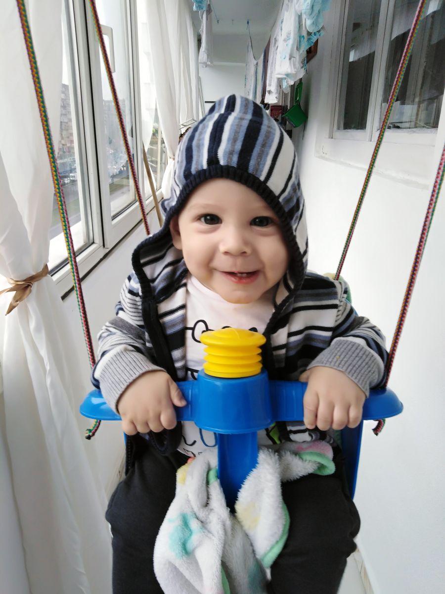 David este recuperat complet la vârsta de 9 luni