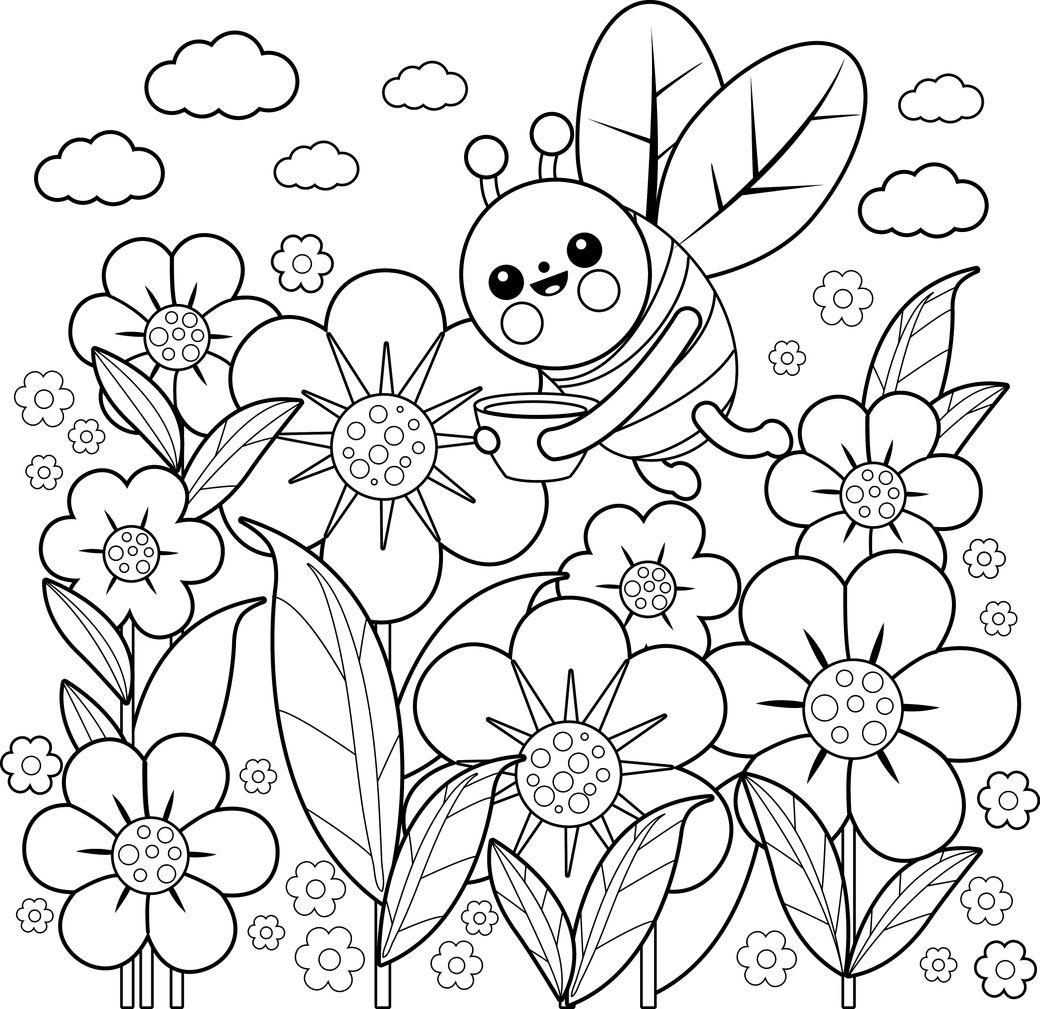 Desene De Colorat Primăvara Totul Despre Mame