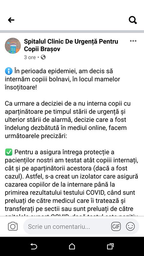 Spitalul Clinic de Urgență pentru Copii Brașov