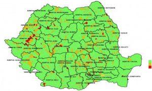 harta epidemiologică